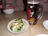 生ビール&きゅうりのタタキ
