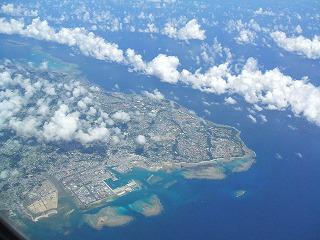飛行機から見た本島