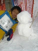北海道スクーリング_雪だるま