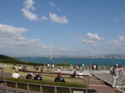 淡路SA 明石大橋が見えてとっても眺めがいいのだ