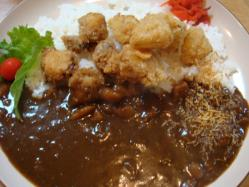 淡路島カレー たまねぎとタコのフライがおいしい♪