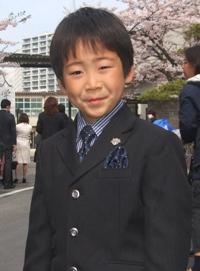 しゅんちゃん、入学式