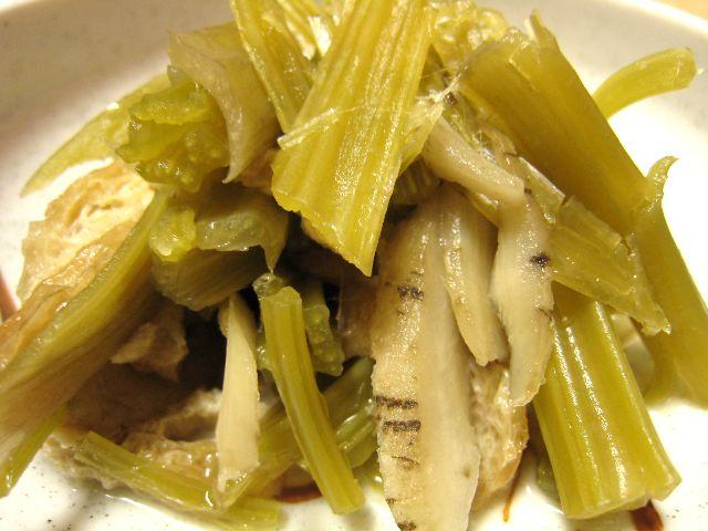 葉ごぼう煮物