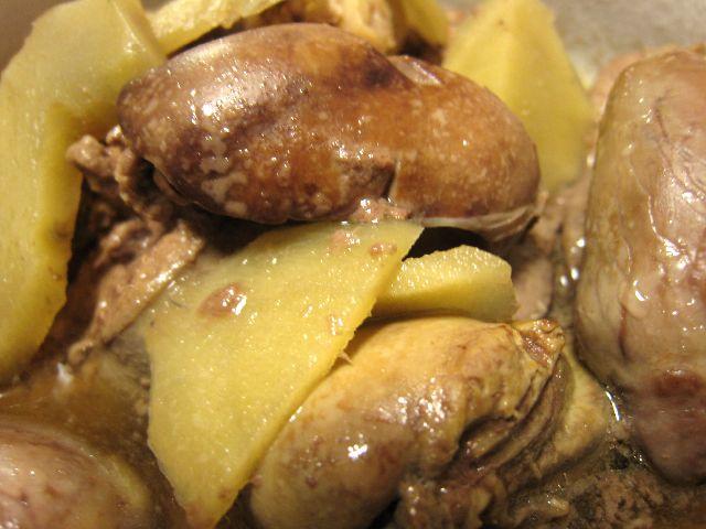 鶏レバー煮