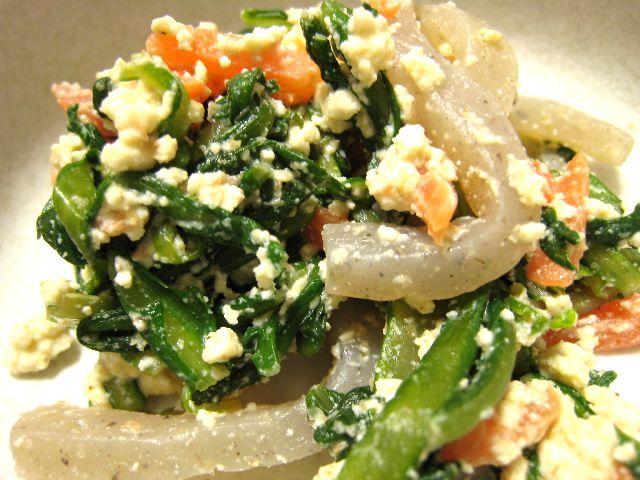 菊菜白和え