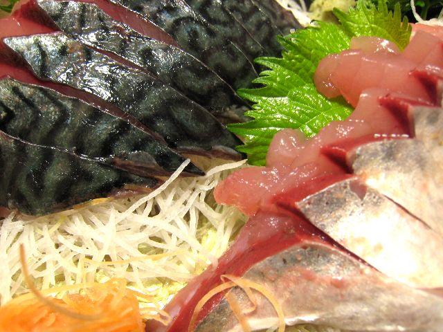清水鯖刺身