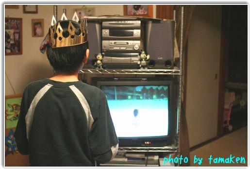 Wiiでスキーに興じる王子様の図