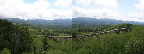 緑深橋からの眺望