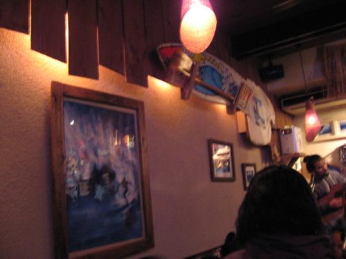 ジャミン七里ヶ浜壁の絵