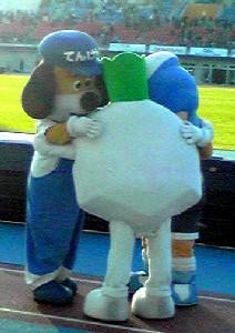 ガンバ戦試合後マスコット