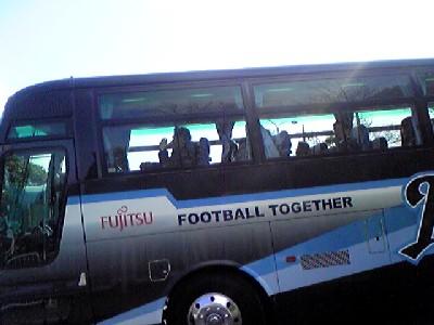 開幕柏戦選手バス