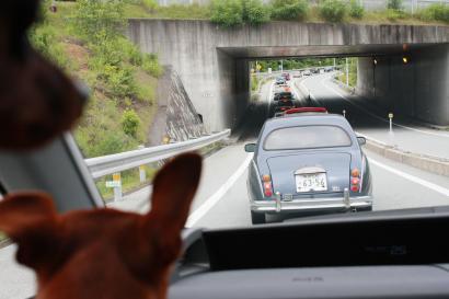 高速降りたら渋滞