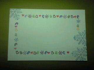 クリスマスポストカード②