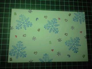 クリスマスポストカード①