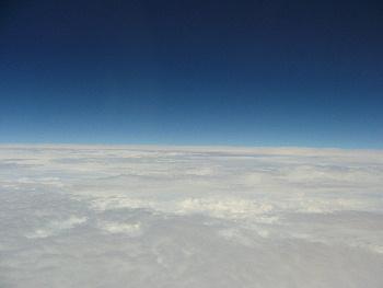 飛行機からパチリ