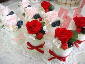 プリザーブドフラワープチケーキ