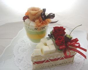 プリザーブドフラワーケーキ