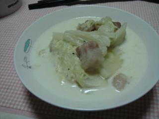 白菜ミルク煮