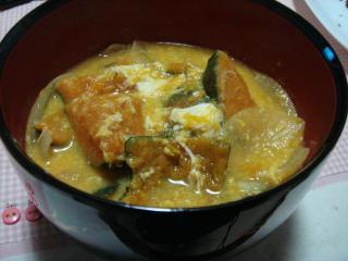 カボチャ味噌汁