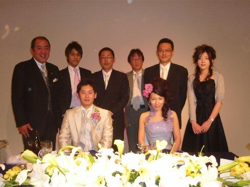 勘田君結婚式