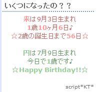 誕生日~☆