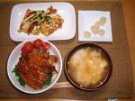 豚丼と豆腐ステーキ