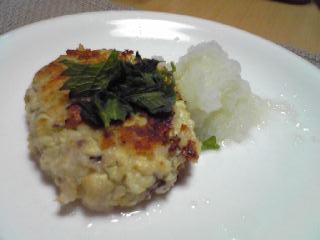 豆腐とマグロのハンバーグ