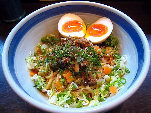 味噌担々麺 海老風味(汁無→汁有)