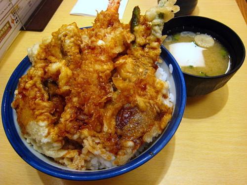 松茸牡蠣天丼