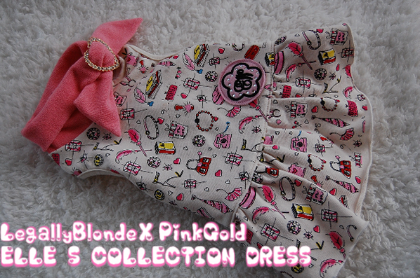 LegallyBlonde×PinkGold ELLES COLLECTION DRESS