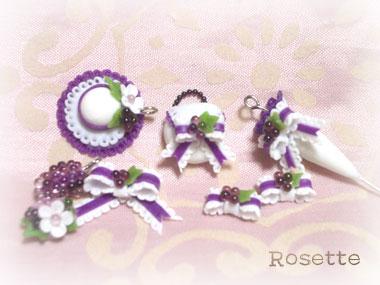 葡萄と小花のセット