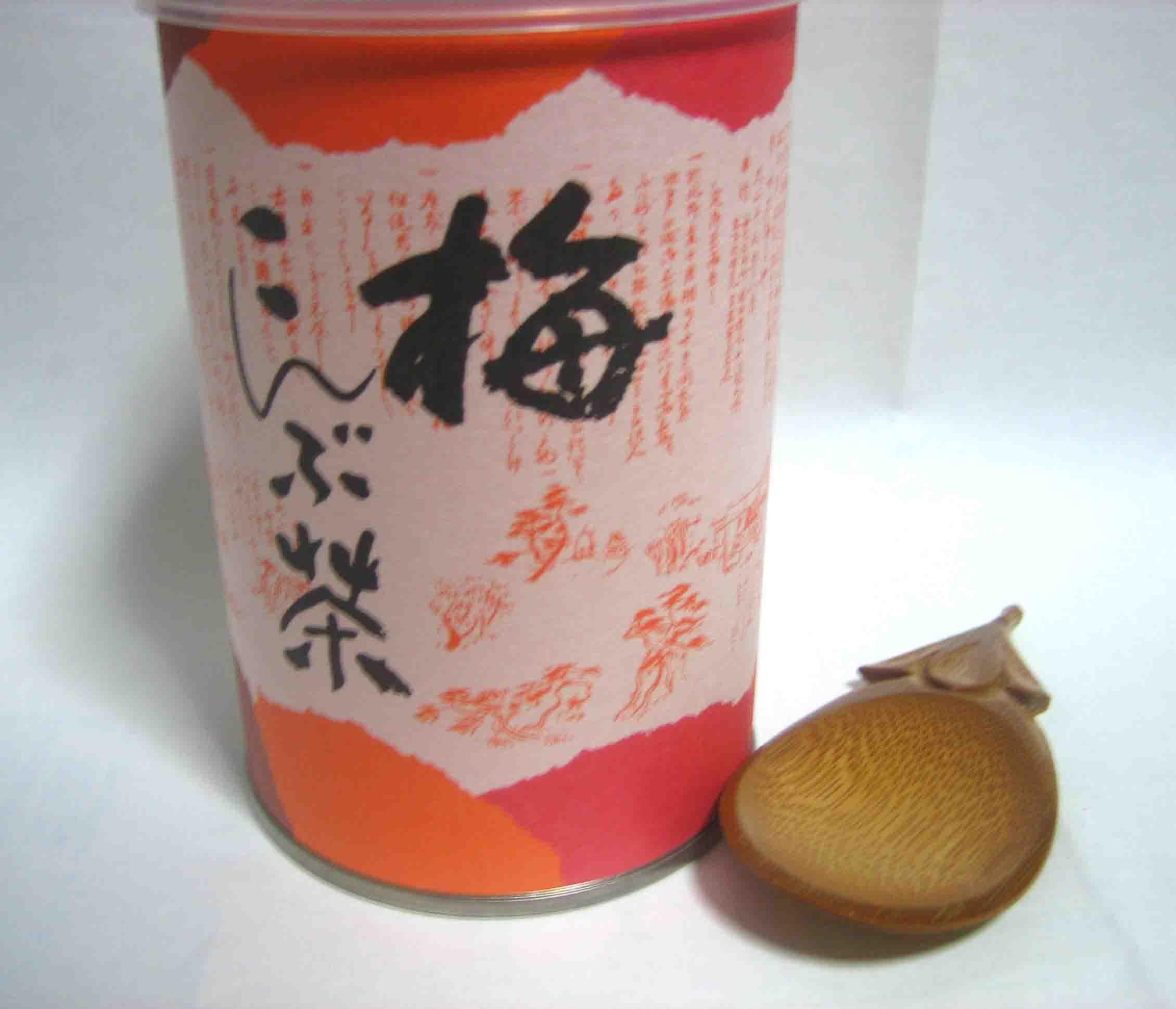 梅こんぶ茶とスプーン