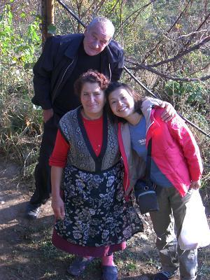 with mama and papa