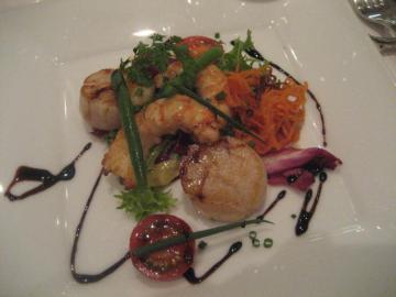 海老と帆立のソテー バルサミコソース