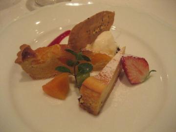 杏とリコッタチーズのタルト