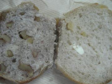 リンゴのカンパーニュ切り口