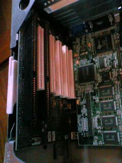 古いパソコンの内部_バスカード部