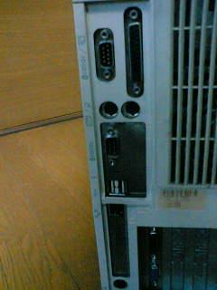 古いパソコン_背面コネクタ部