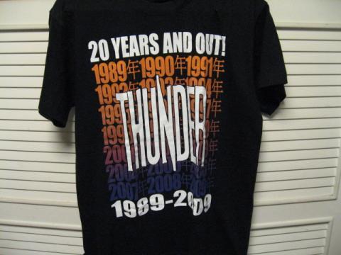 thunder t-shirts2009