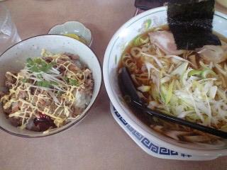 麺介の中華そばとチャーマヨ丼