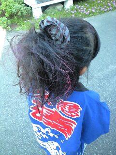 ピンクの髪
