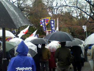 チベット人の独立・自由を支援する緊急抗議行動集合場所