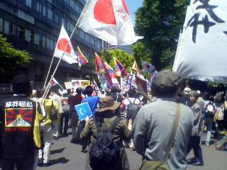 5.6抗議デモ(日比谷公園付近)