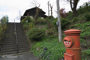 日田彦山線、夜明駅の丸ポスト