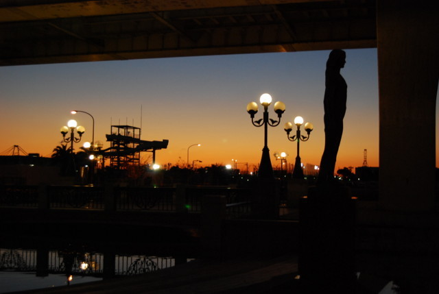 六甲ランの夕日