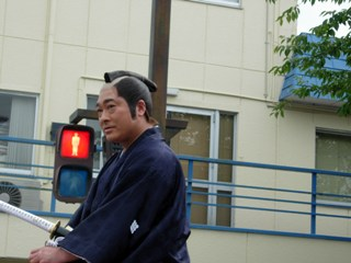 保科正之公に扮した会津若松市長:菅家一郎氏