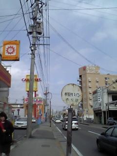 塩釜市、バス停「市役所入口」のりば付近