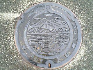 会津レク公園の雨水マンホール