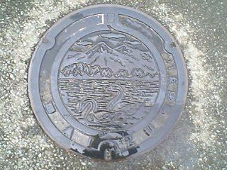 会津レク公園の汚水マンホール