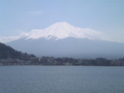 河口湖から眺めた富士山